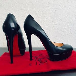 ❤️LIKE NEW❤️Bianca 140 Black Leather Pumps